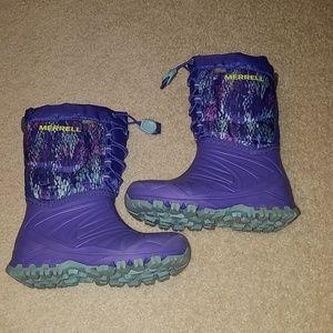Merrell winter boots size 12 little girls